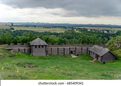 The settlement on the mountain - Jura Krakowska Poland