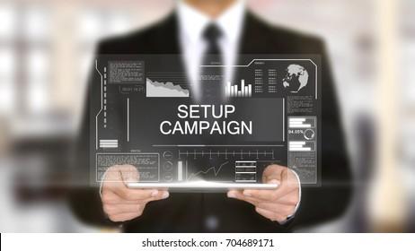 Setup Campaign, Hologram Futuristic Interface, Augmented Virtual Reality