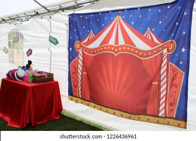 Setup For Circus Theme Party Photo Booth
