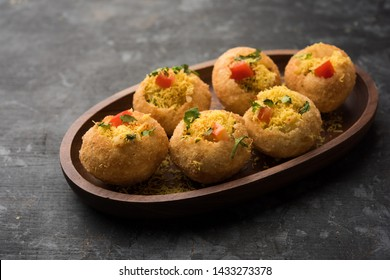 Sev puri - Indian snack and a type of chaat. Popular in Mumbai/pune from Maharashtra. it's a roadside food also served as a starter in restaurants