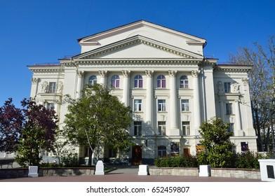 Sevastopol, Crimea, Russia, May, 08, 2017. Russian drama theatre of Lunacharsky