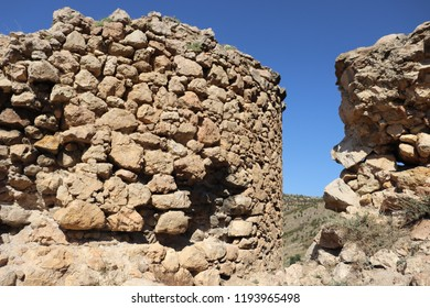 SEVASTOPOL, REPUBLIC OF CRIMEA / RUSSIA - SEPTEMBER 19 2018: Ruins of Genoese Cembalo fortress near Balaklava