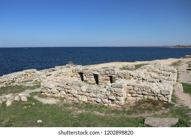 SEVASTOPOL, REPUBLIC OF CRIMEA / RUSSIA - SEPTEMBER 19 2018: Ruins of the Chersonesus is an ancient Greek colony founded approximately 2,500 years ago in the southwestern part of the Crimean Peninsula