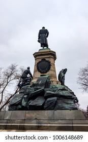 SEVASTOPOL, RUSSIA - MARCH 19, 2011: Monument to general Totleben