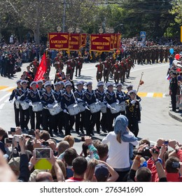 Sevastopol, Russia - May 9, 2015: Victory Day. Parade in commemorating the 70th anniversary of victory.