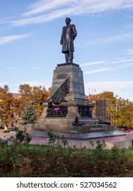 Sevastopol, Russia - November 14, 2015: A monument to Admiral Nakhimov in Sevastopol, Crimea