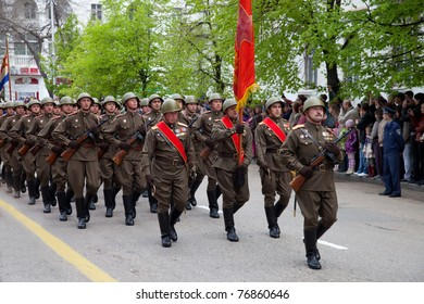 SEVASTOPOL, UKRAINE - MAY 9: Victory Day. The parade of veterans in honor of 66 anniversary of the victory on May 9, 2011 in Sevastopol, Ukraine.