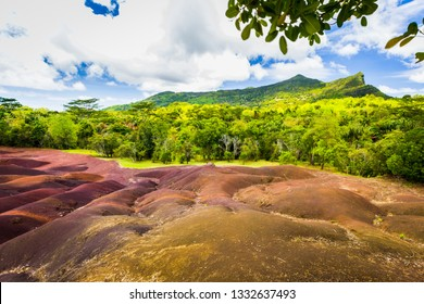 seven colored earth, chamarel, mauritius island, indian ocean