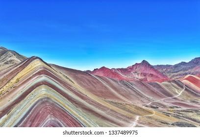 Seven colours mountain. Vinicuna. Cuzco. Peru