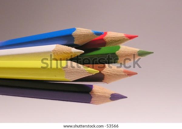 Seven crayons