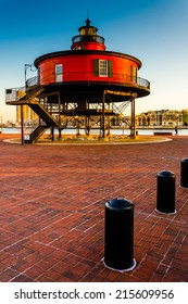 Seven Foot Knoll Lighthouse in the Inner Harbor, Baltimore, Maryland.