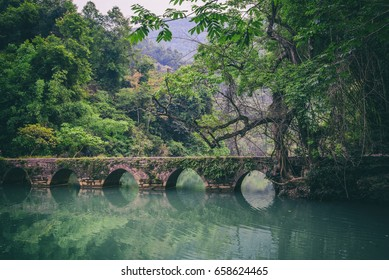 seven Holes Bridge (xiaoqikong) in Libo, Guizhou, China