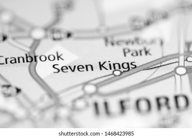 Seven Kings. United Kingdom on a geography map