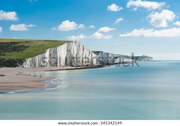 Seven Sisters National Park, falaises blanches, East Sussex, Angleterre