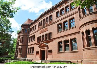 Sever Hall in Harvard Yard, Harvard University, Cambridge, Massachusetts, USA