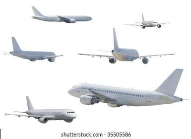 several airliner