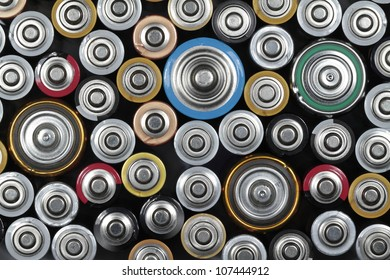 Several batteries are next to each other.