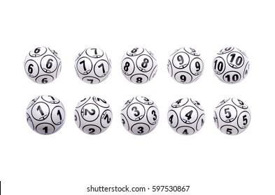 Several bingo balls