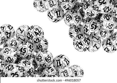 Several bingo bolls. Bingo lottery/