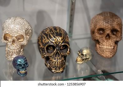 Several Decorative Skulls