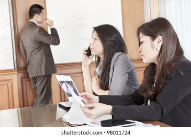 Several employees busy in their working hour in the office