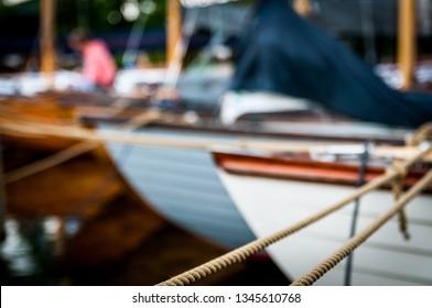 Several folkboats on an flotilla in denmark.