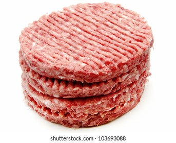 Several fresh hamburger