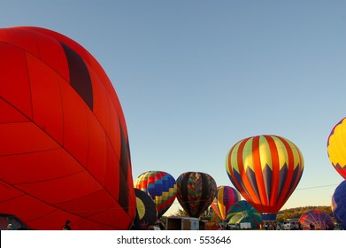 Several Hot Air Balloons
