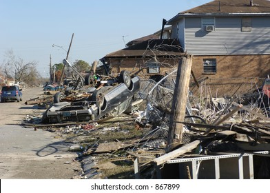 Several Houses destroyed - 9th Ward New Orleans