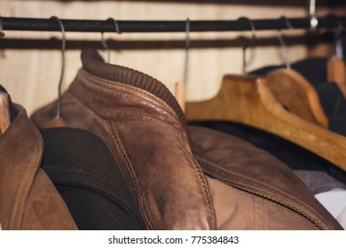 Several jackets on Open Clothes Rail