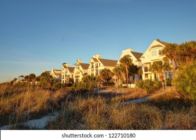 Several luxury Atlantic Ocean beach houses in Hilton Head, SC.