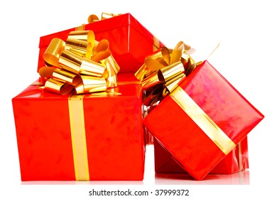 Several present boxes