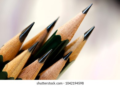 Several Sketch Pencils sharpened with fine points