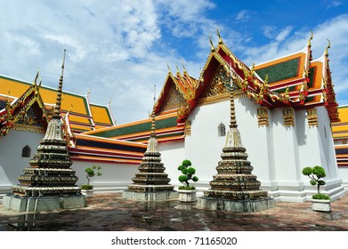 Several stupas in a temple, Thailand