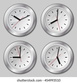 Several variants of abstract watch dials.