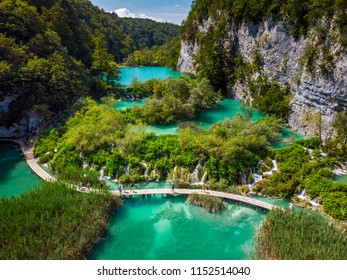 Several waterfalls of one of the most astonishing Plitvice Lakes, Croatia. A truly virgin and wonderful piece of nature.