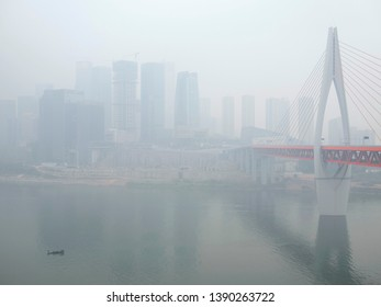 Severe air pollution in Chongqing city, China