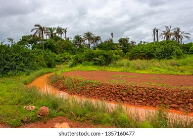 Severe environmental pollution is suspected as a result of the work of uncontrolled mining of bauxite which could threaten marine life and local residents. Kamsar, Guinea.