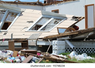Severe Tornado Damages Home and Belongings.  Damage is extensive.