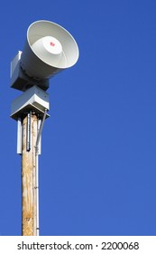 Severe weather and tornado warning siren
