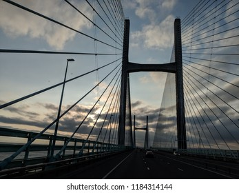 Severn bridge before sunrise