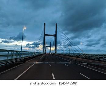 Severn suspension bridge, Wales, UK