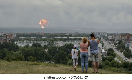 Severodvinsk / Russia - August 8, 2019: Russia's nuclear agency said on Saturday (Aug 10) an explosion during missile testing in the Arctic left five workers dead and involved radioactive material.