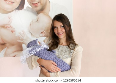SEVERSK, RUSSIA - September 9, 2016: Seversky Perinatal Center, the concept of motherhood, the birth of a new person, mother and child