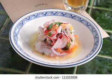 seviche raw fish