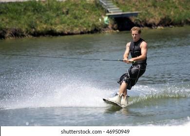 SEVIILLA - JUNE 6: Participant in FAM International Championships of Ski Water on June 6, 2008 in Sevilla, Spain.