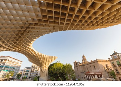 Sevilla, Architecture of the Metropol parasol (Setas de Sevilla) june 2018