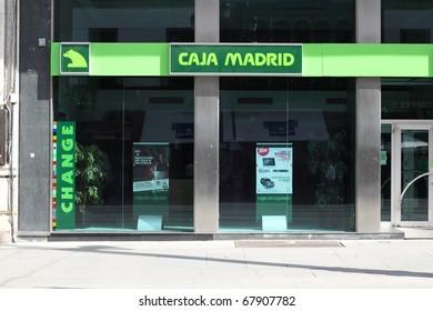 SEVILLA - OCTOBER 12: Caja Madrid bank branch on October 12, 2010 in Sevilla, Spain. Caja Madrid is the oldest Spanish savings bank with 15,279 employees (2009).