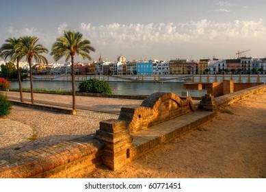 Sevilla stroll along the river Guadalquivir