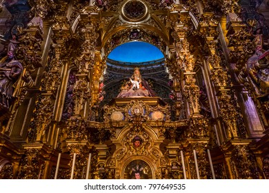 SEVILLE, ANDALUSIA, SPAIN, MAY, 21, 2017 : interiors  of  El Salvador church, may 21, 2017, in Seville, andalusia, spain